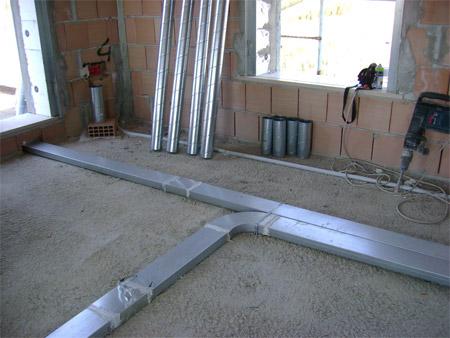Un impianto di ventilazione meccanica controllata a Pescara, fornito da Enercomb