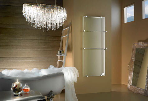 Glass radiator Thermoglance. Design Made in Italy