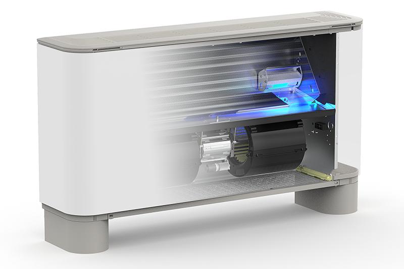 FCZ H, ventilconvettori con sistema di sterilizzazione profonda a raggi UV